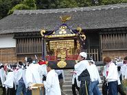 お神輿(表門前)